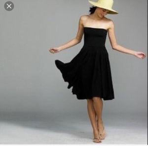 J.crew dark blue tube top dress size L